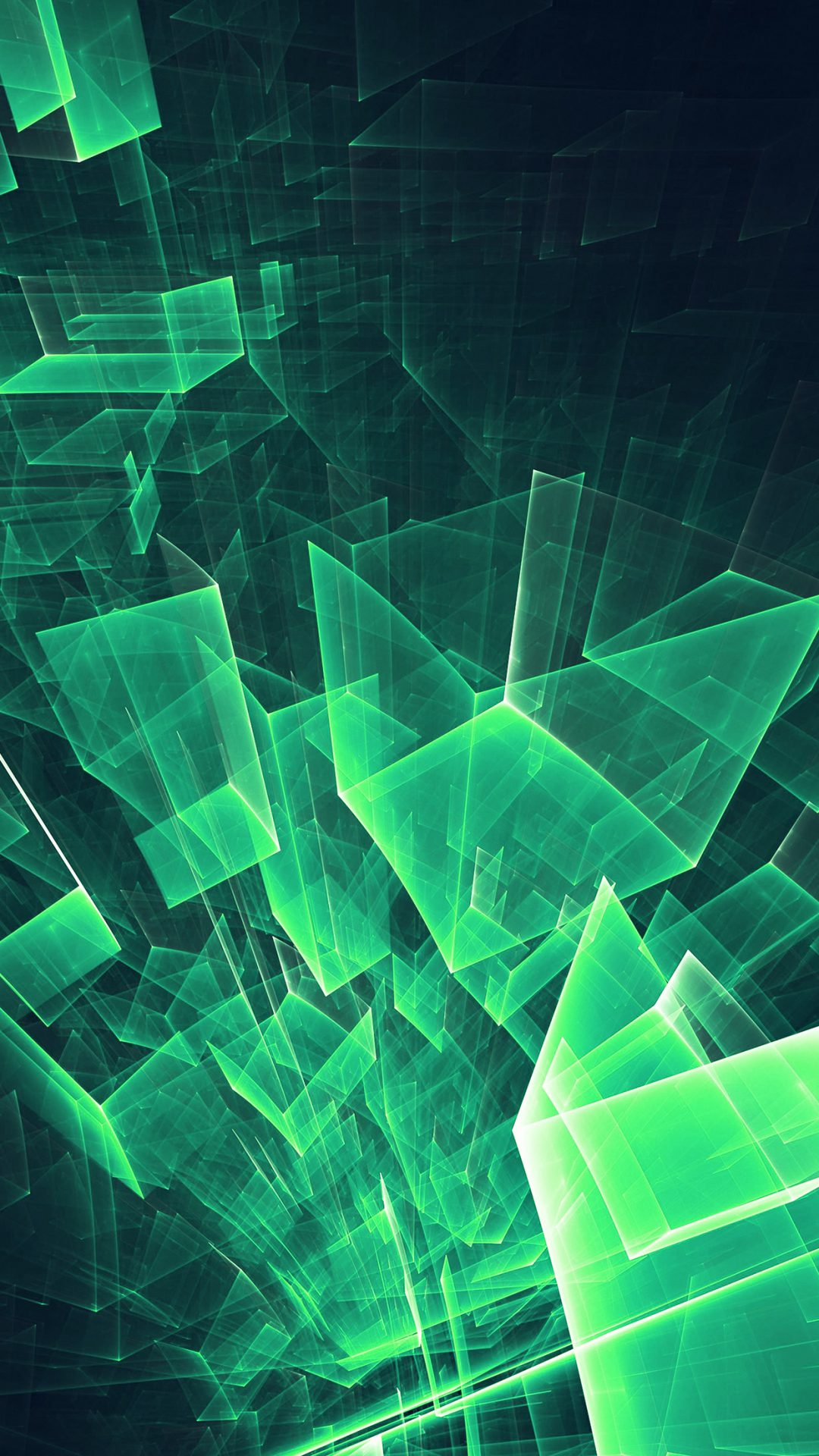 Abstract Blue Green Cube Pattern