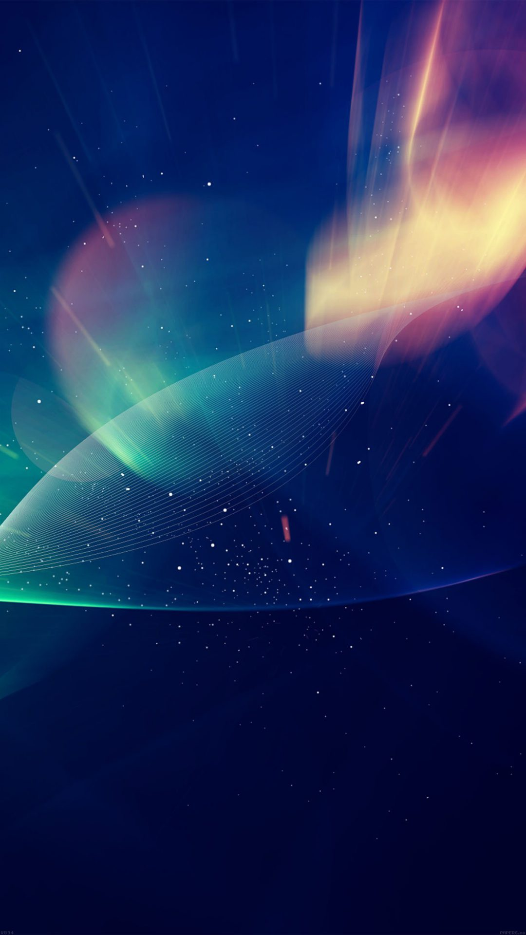 Abstract Lights Vector Illust Blue