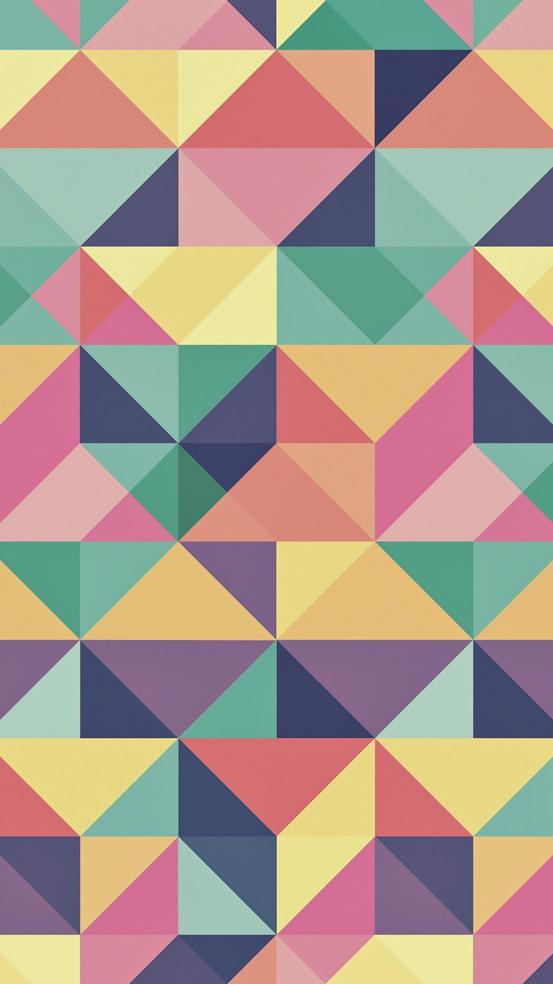 Abstract Polygon Art Pattern Rainbow