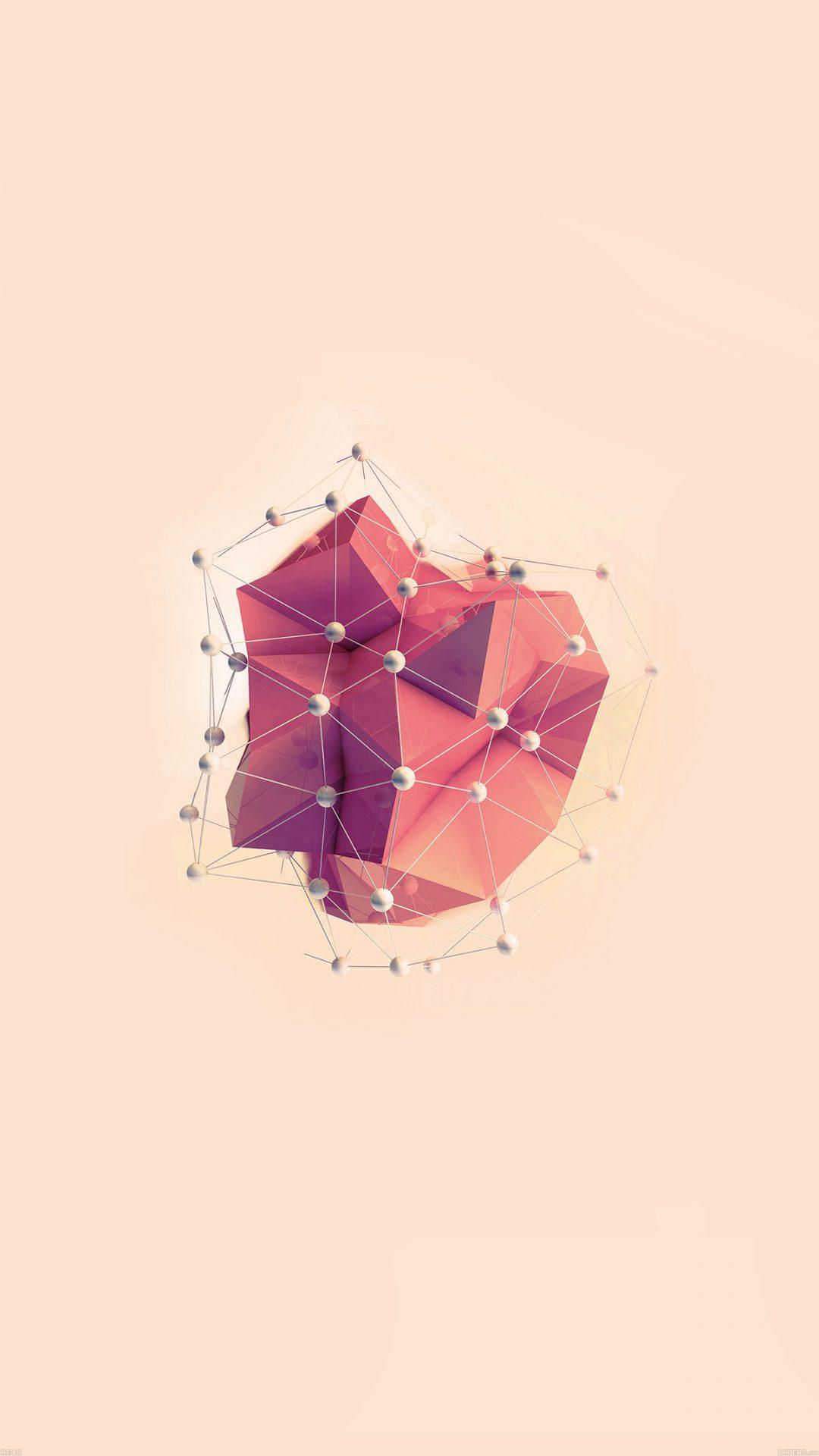 Abstract Red Art Multigons Cg Art Illust