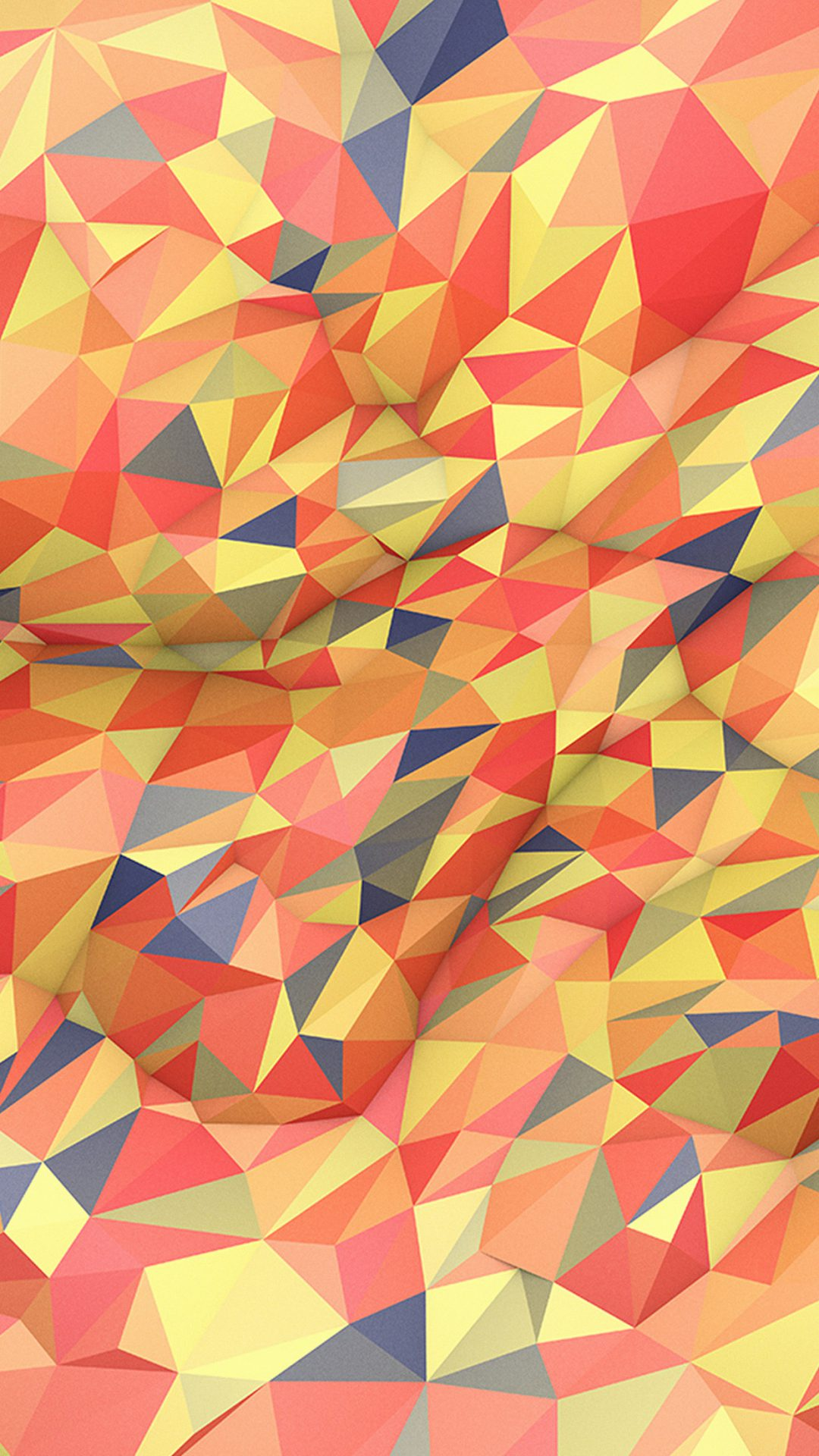 Abstract Red Yellow Polyart Pattern