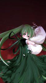 Anime Art Hasune Miku Red Sleepy Illust