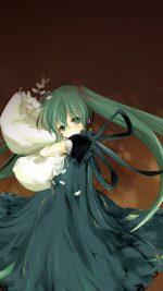 Anime Art Hasune Miku Sleepy Illust