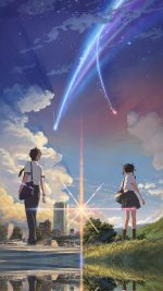 Anime Film Yourname Sky Illustration Art
