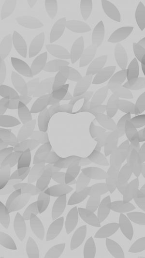Apple In Fall White Pattern