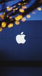 Apple Logo Blue Dark