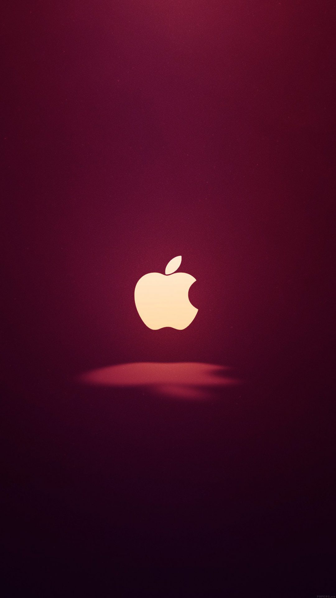 Apple Logo Love Mania Wine Red