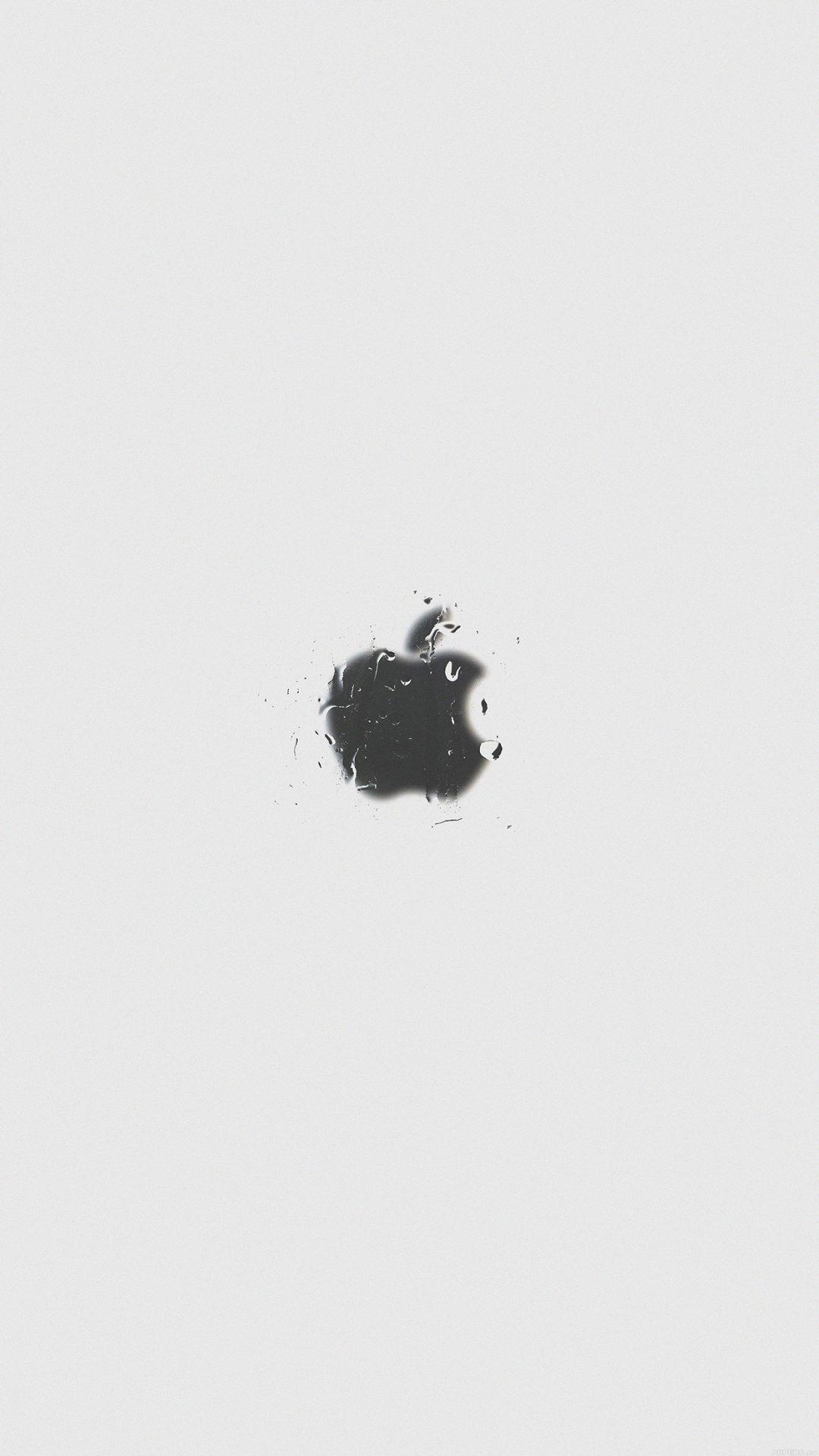 Apple Logo White Simple Minimal