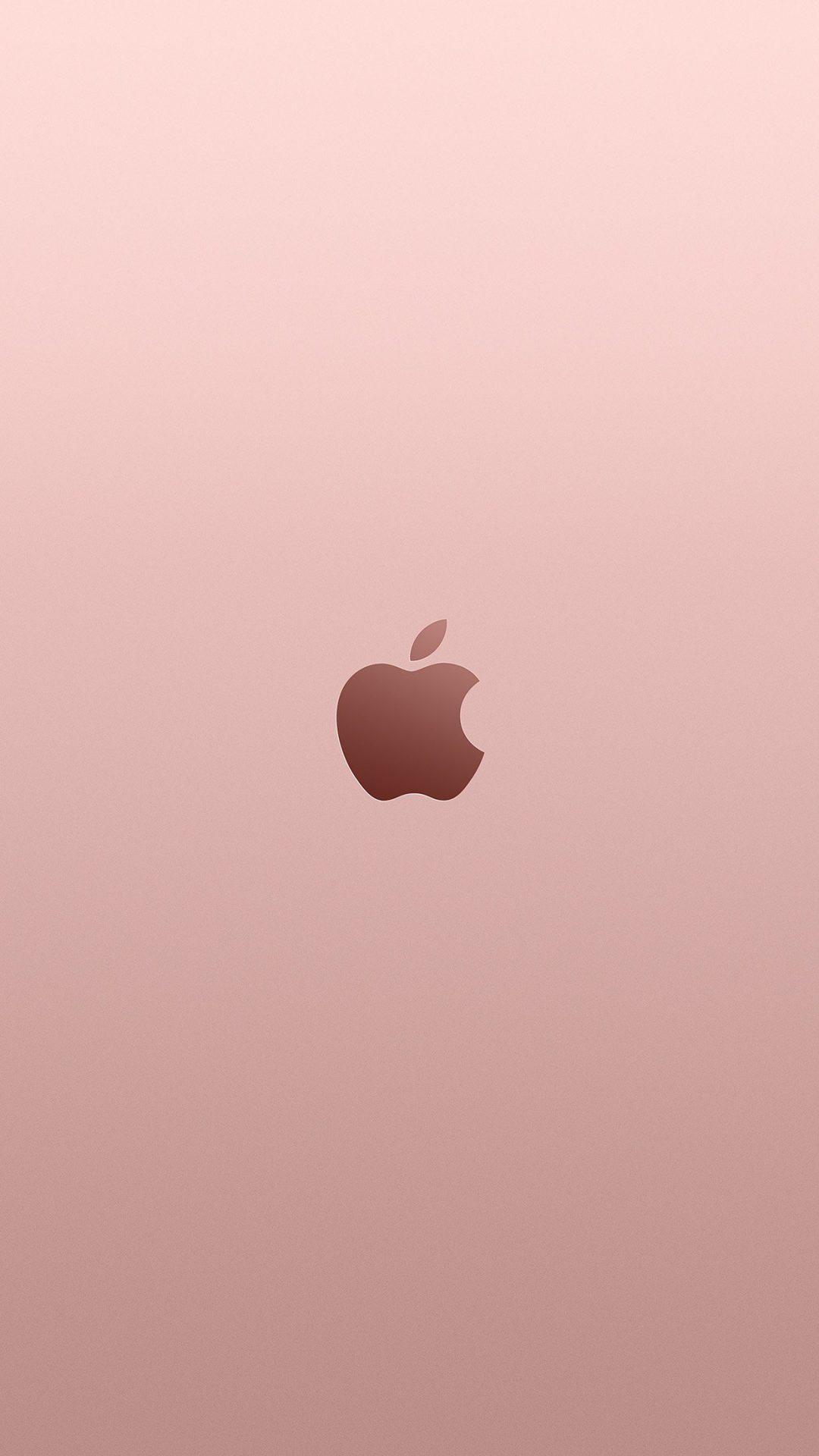 Apple Pink Rose Gold Minimal Illustration Art