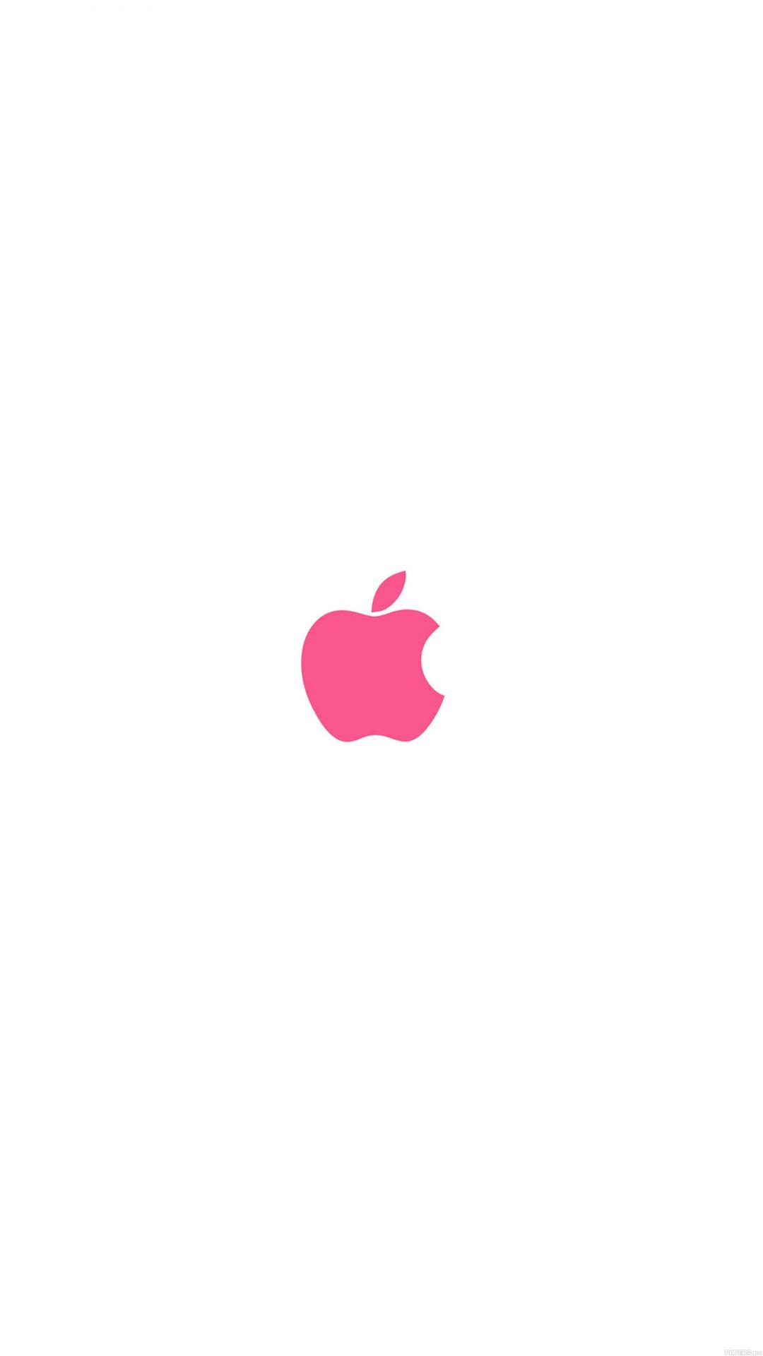 Apple Simple Logo Color Red Minimal