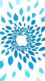 Apple Store Leafs Art Pattern Blue