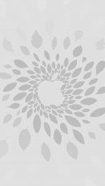 Apple Store Leafs Art Pattern Bw