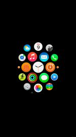 Apple Watch Icons Art Illust Dark