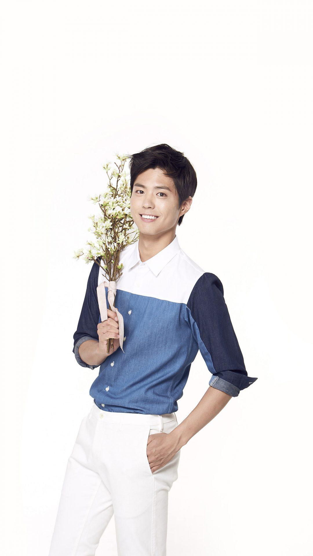 Bogum Kpop Boy Flower Smile Asian
