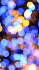 Bokeh Art Light Blue Pattern