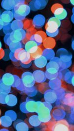 Bokeh Art Light Blue Red Pattern