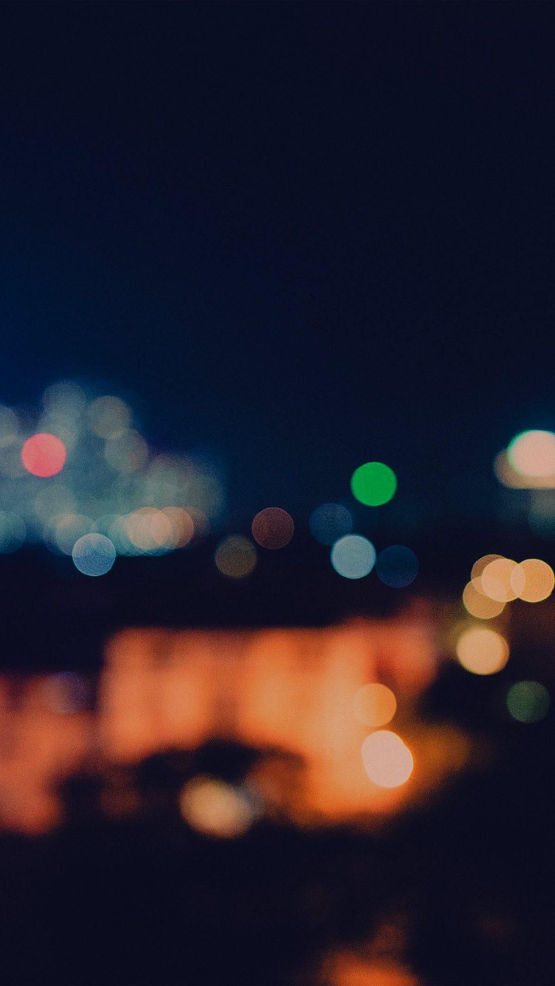 Bokeh City Night Light Art Blue Pattern Dark