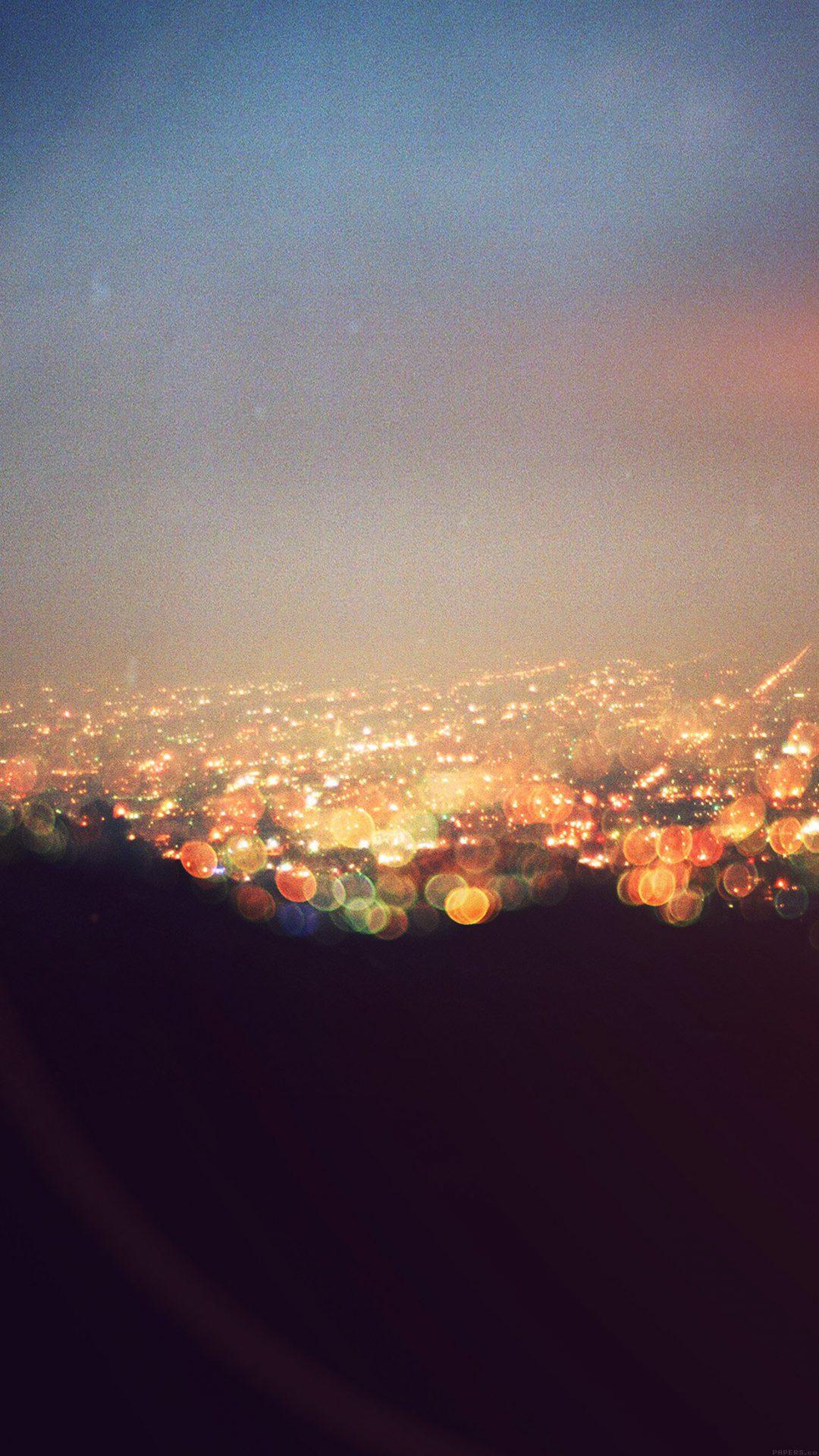 Bokeh Night City View Lights Flare