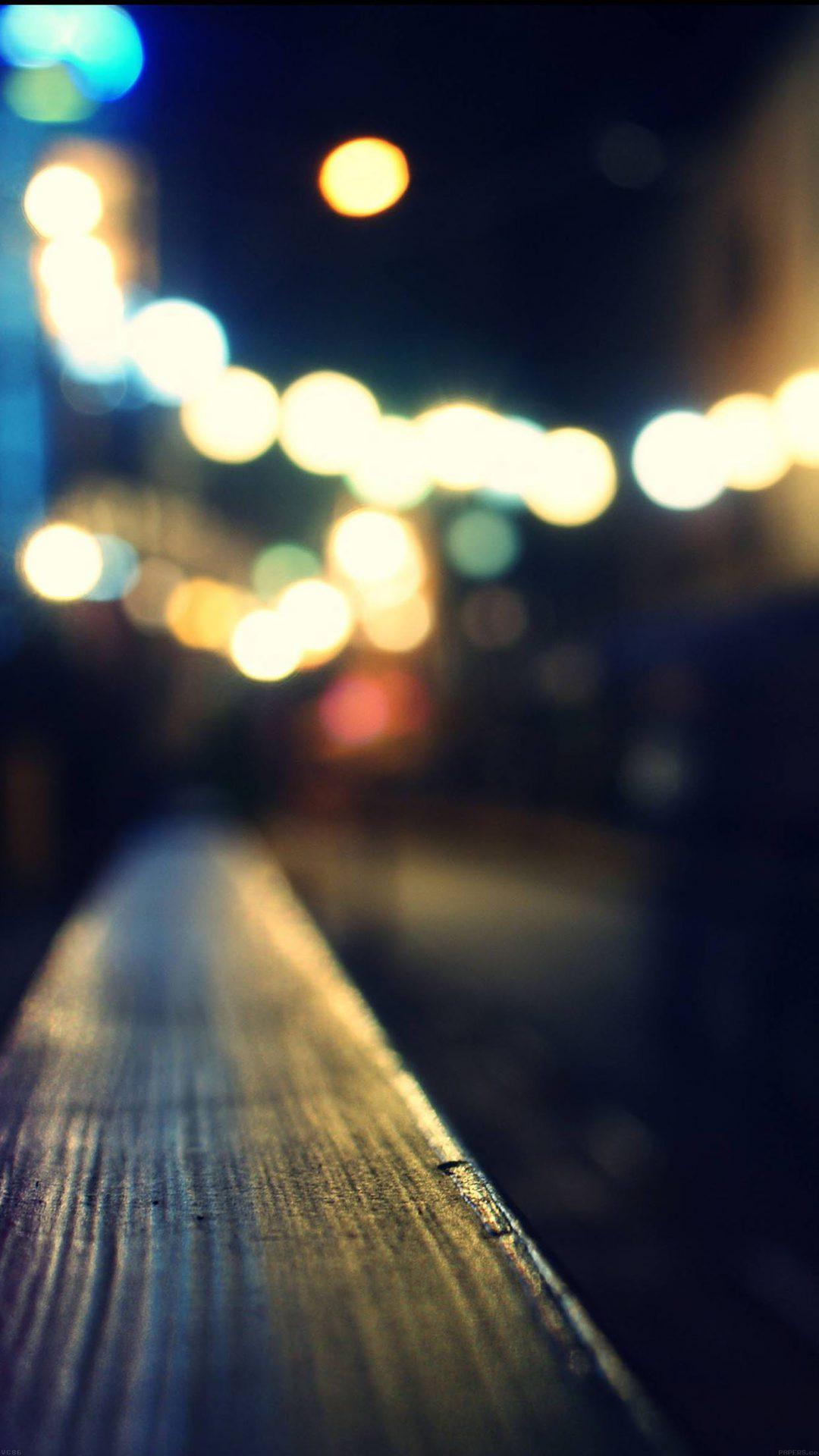 Bokeh Night Siren Lights
