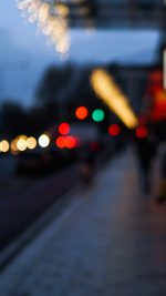 Bokeh Street Lights City Art