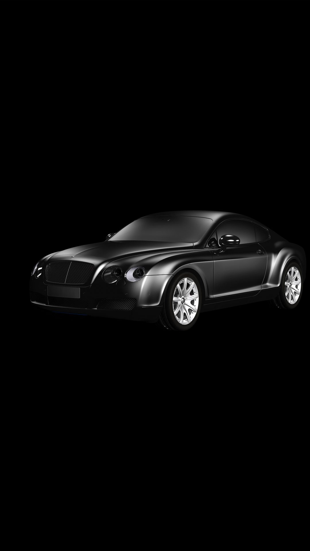 Car Bentley Dark Black Limousine Art Illustration