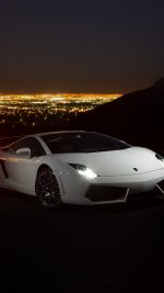 Car Lamborghini Art Dark Night Drive