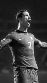 Christiano Ronaldo Roar Dark Face Sports Art