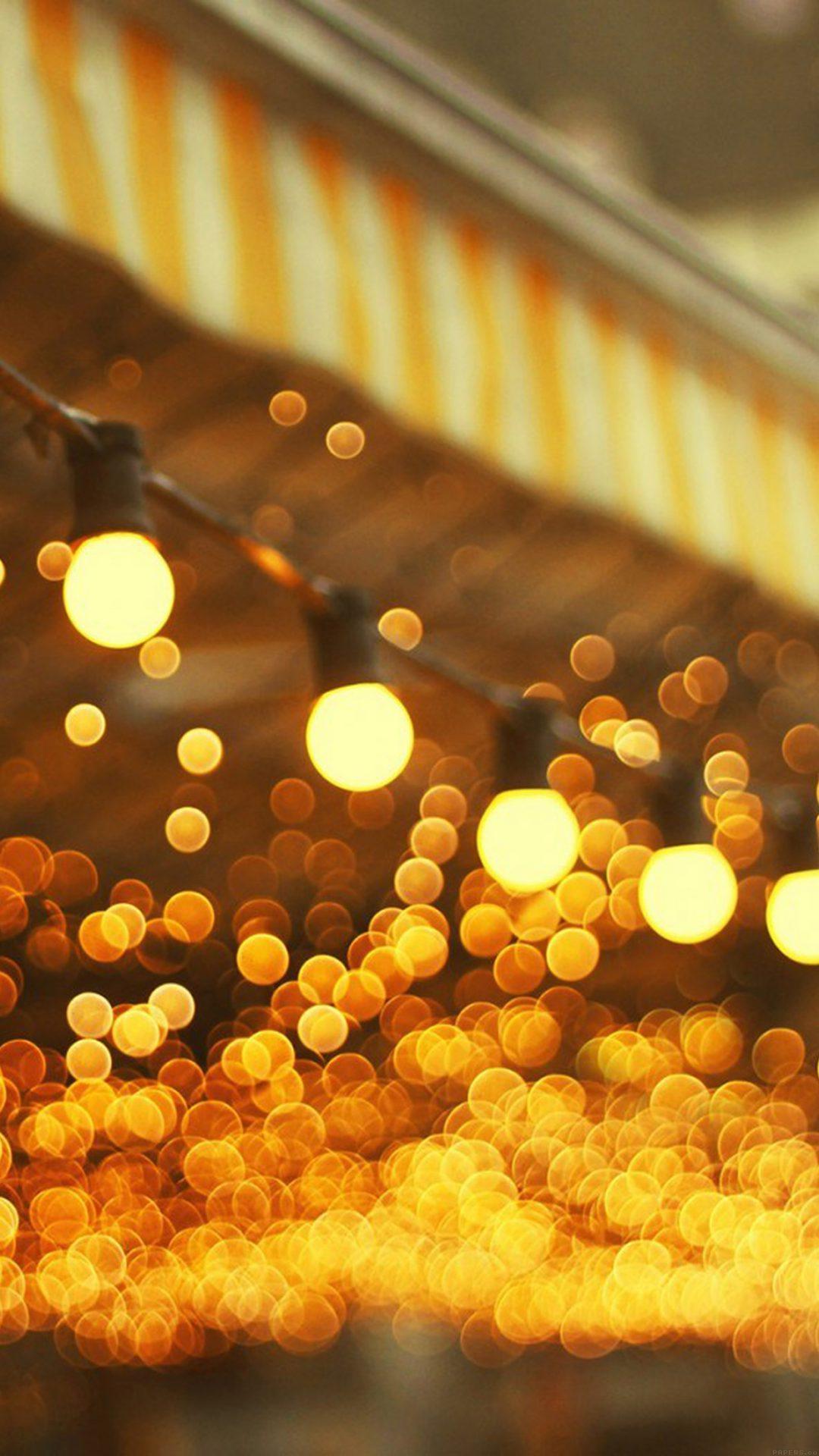 City Light Bulbs Romantic Street