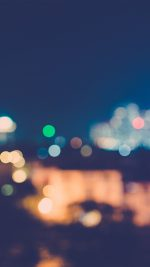 City Night Bokeh Blue Romantic