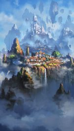 Cloud Town Fantasy Anime Liang Xing Illustration Art