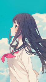 Cute Girl Illustration Anime Sky