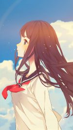 Cute Girl Illustration Anime Sky Flare