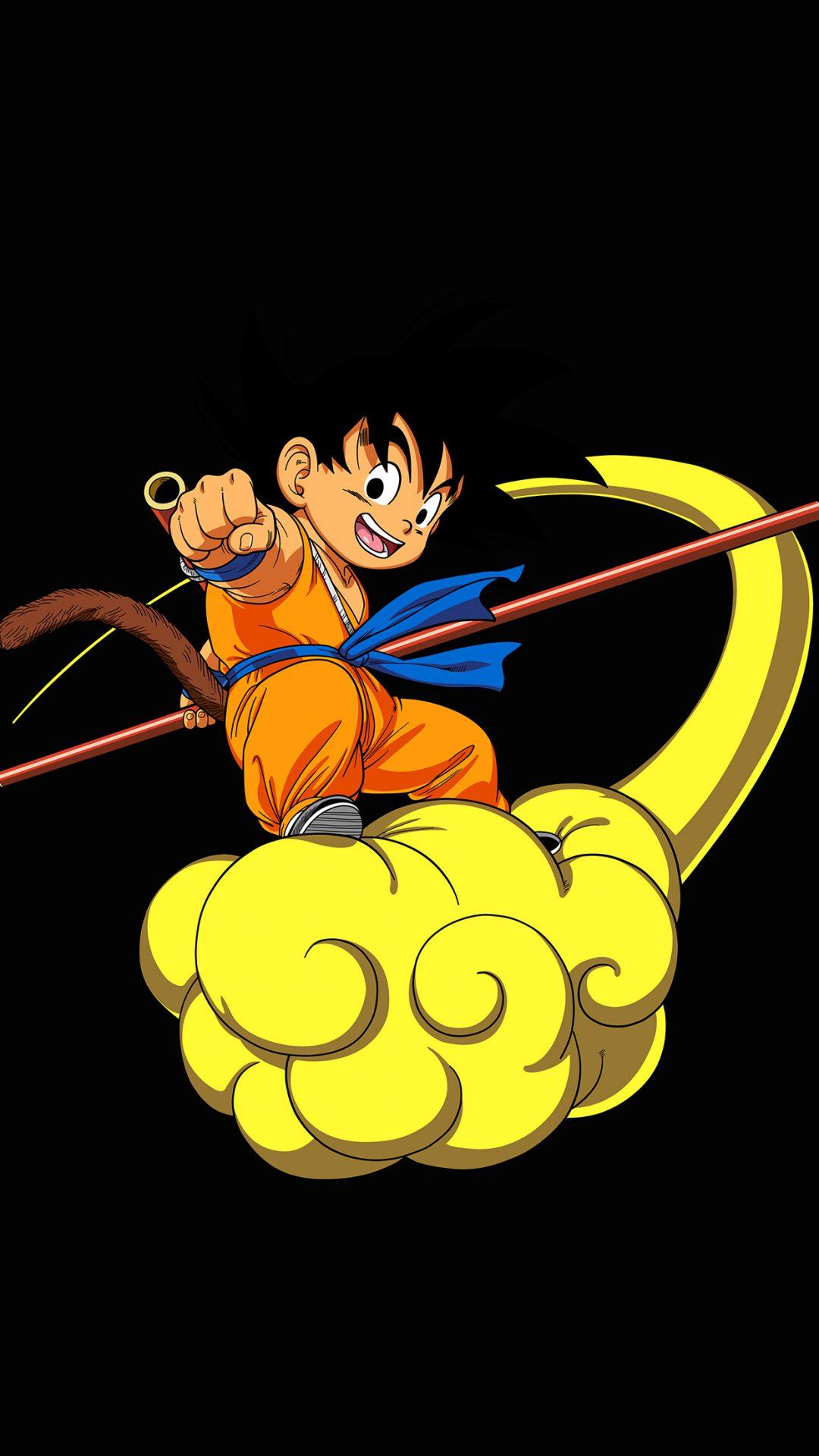 Dragonball Goku Cloud Fly Anime Art Illust