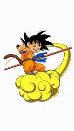 Dragonball Goku Cloud Fly Anime Art Illust White