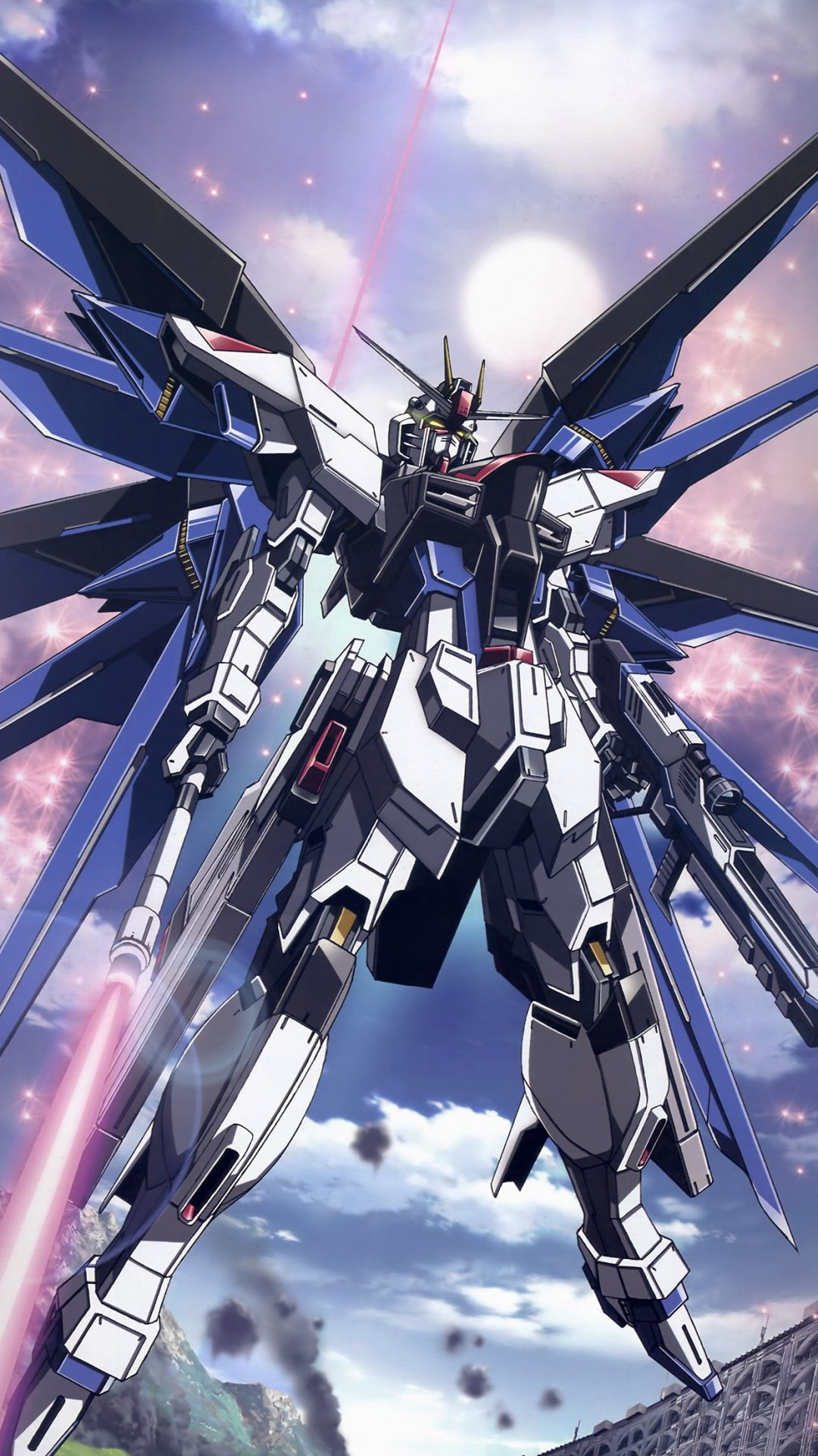 Freedom Gundam Art Illustration Anime