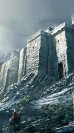 Game Illustration Castle Snow Winter