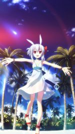 Girl Beach Anime Dress Flare Illust Art