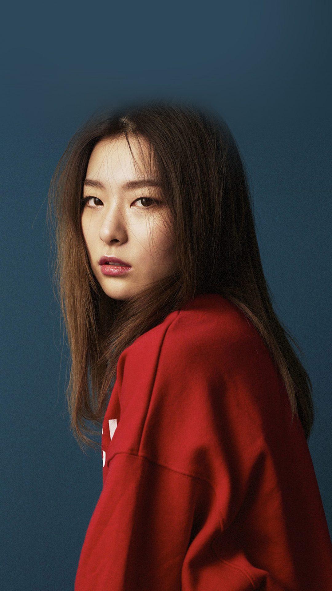 Girl Kpop Cute Red Tshirt Film