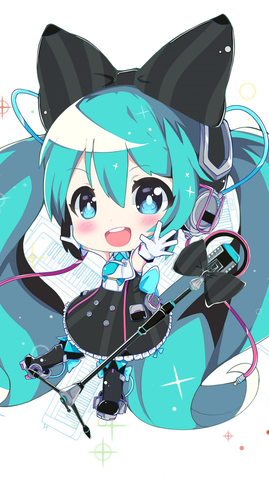 Hatsune Miku Anime Girl Blue Illustration Art