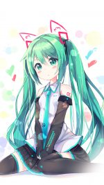 Hatsune Milk Anime Girl Illustration Art