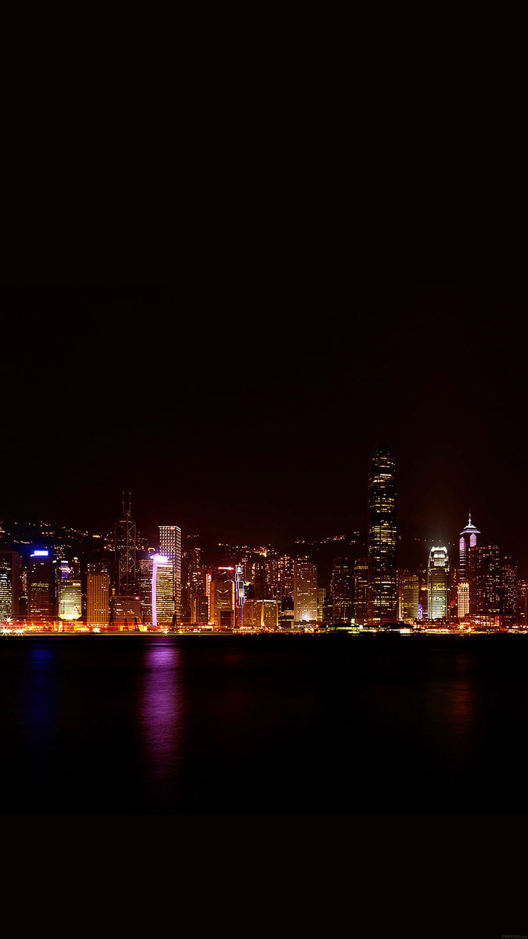 Hongkong Skyline City Dark Art