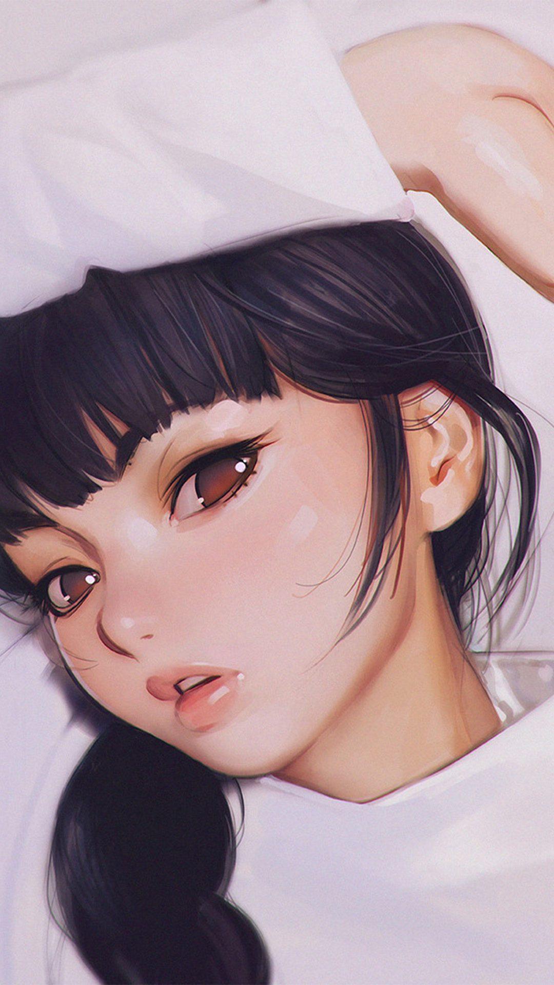 Ilya Kuvshinov Anime Girl Shy Cute Illustration Art