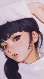 Ilya Kuvshinov Anime Girl Shy Cute Illustration Art