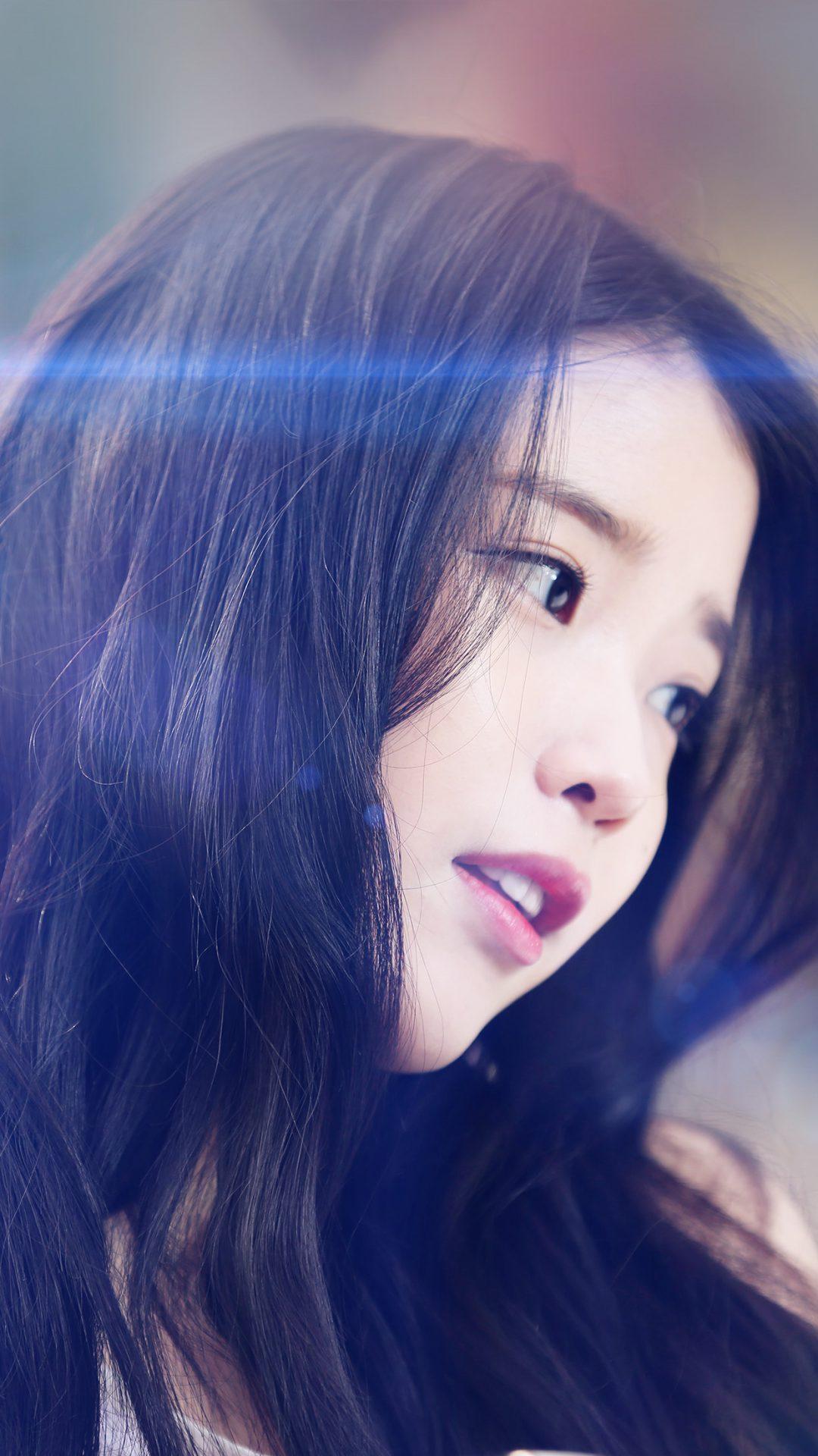 Iu Kpop Beauty Girl Singer Blue Flare