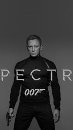James Bond 007 Spectre Movie Film Poster Dark Bw