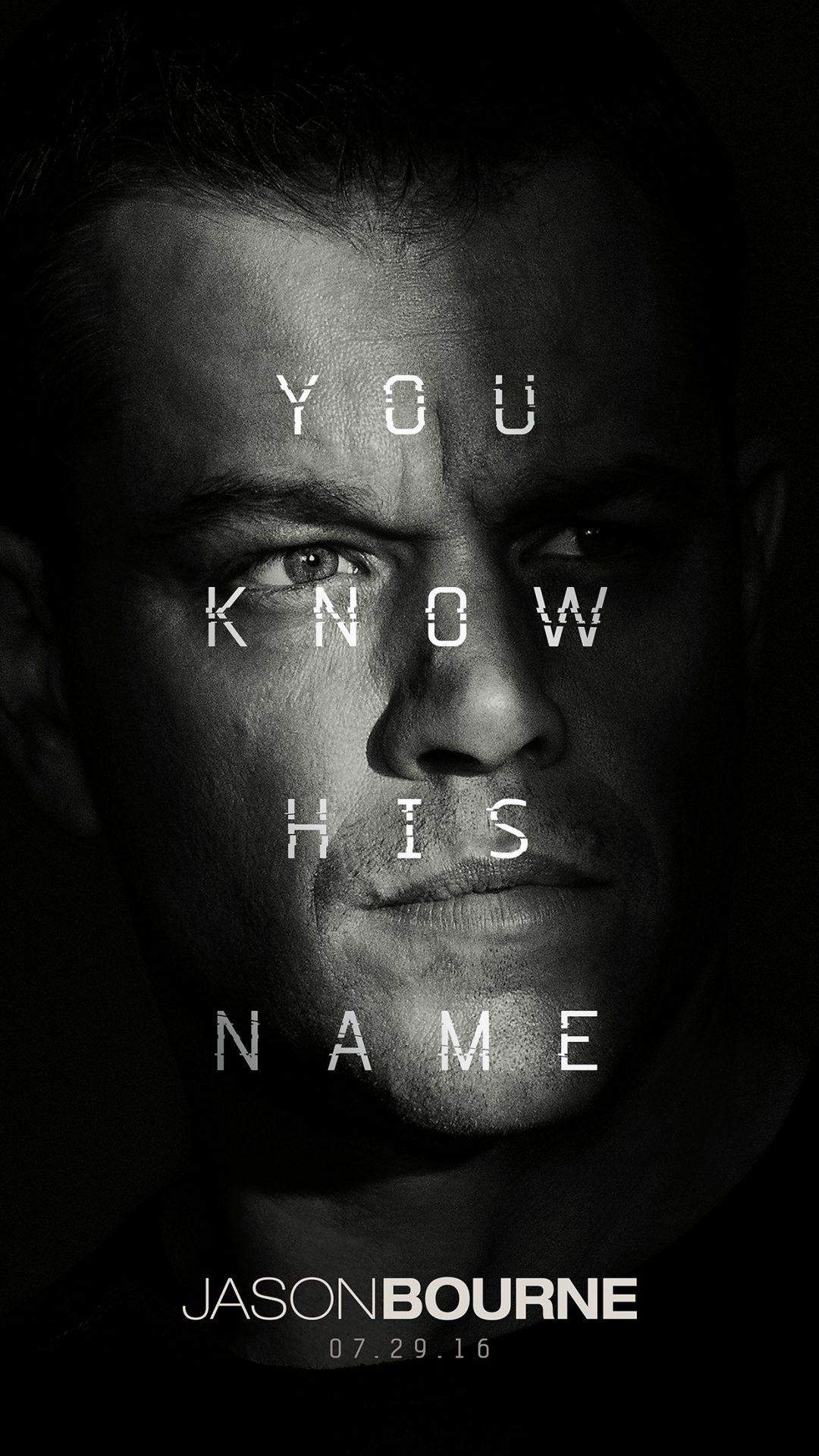 Jason Bourne Film Poster Art Illustration