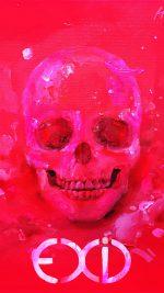 Kpop Exid Cover Skull Red Art Illustration