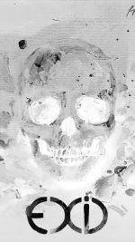 Kpop Exid Cover Skull White Art Illustration