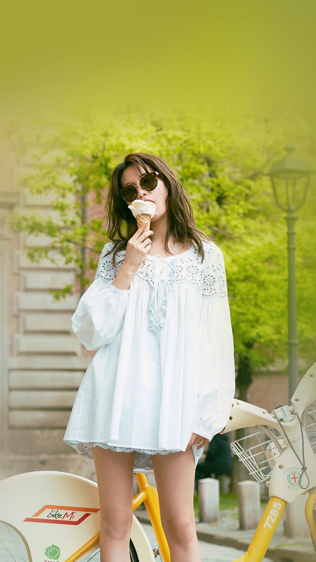 Kpop Girl Nana Icecream Spring Green