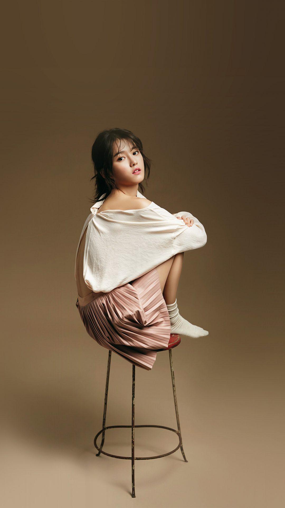 Kpop Nambora Sitting Chair Cute Brown